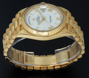 Rolex Yellow Gold Day-Date 40 White Dial. 228238