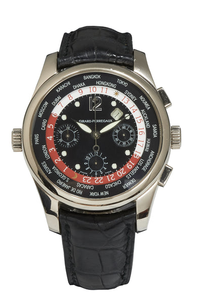 Girard Perregaux World Time Chronograph White Gold WW.TC, Ref: 4980