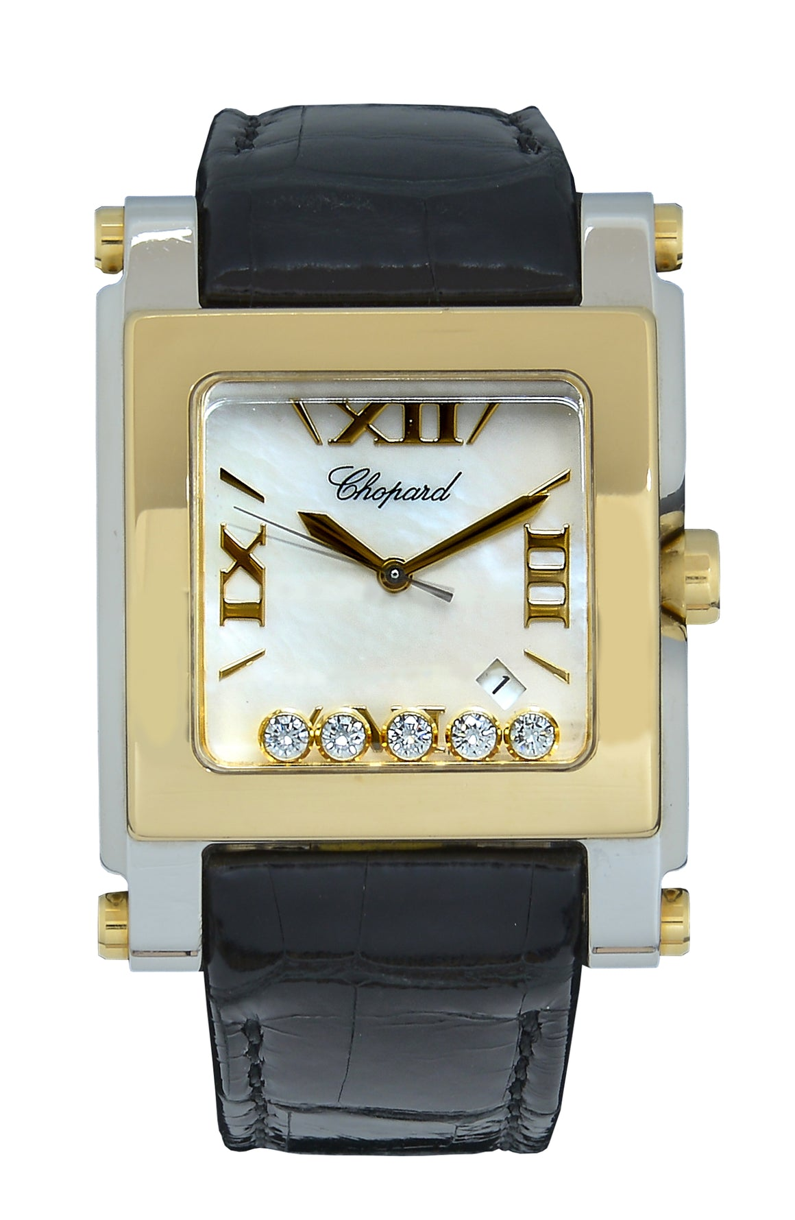 Chopard Happy Sport Square XL Bimetal, Diamonds