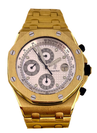 "Audemars Piguet Royal Oak Offshore Chronograph Yellow Gold ""Brick"""