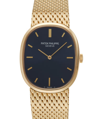 Patek Philippe Ellipse 18ct Yellow Gold with Blue Sigma Dial, Ref: 3548