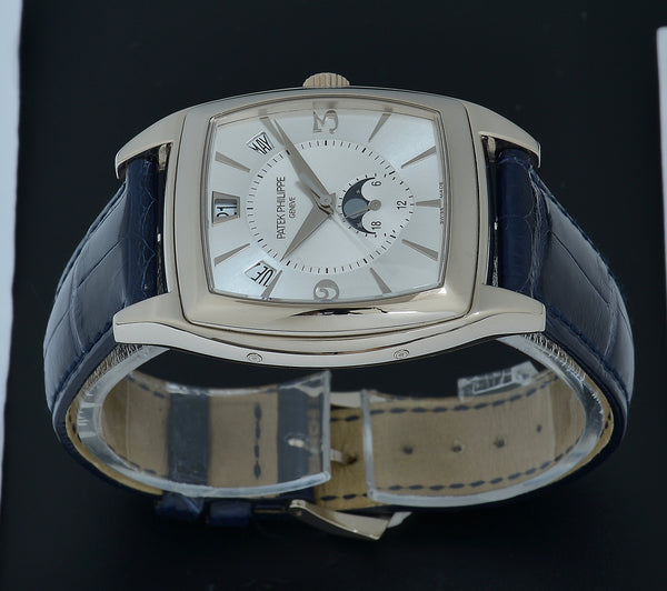Patek Philippe Gondolo Anual Calendar Moon-phase in 18k White Gold, B&P