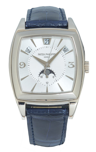 Patek Philippe Gondolo Anual Calendar Moon-phase in 8k White Gold, B&P