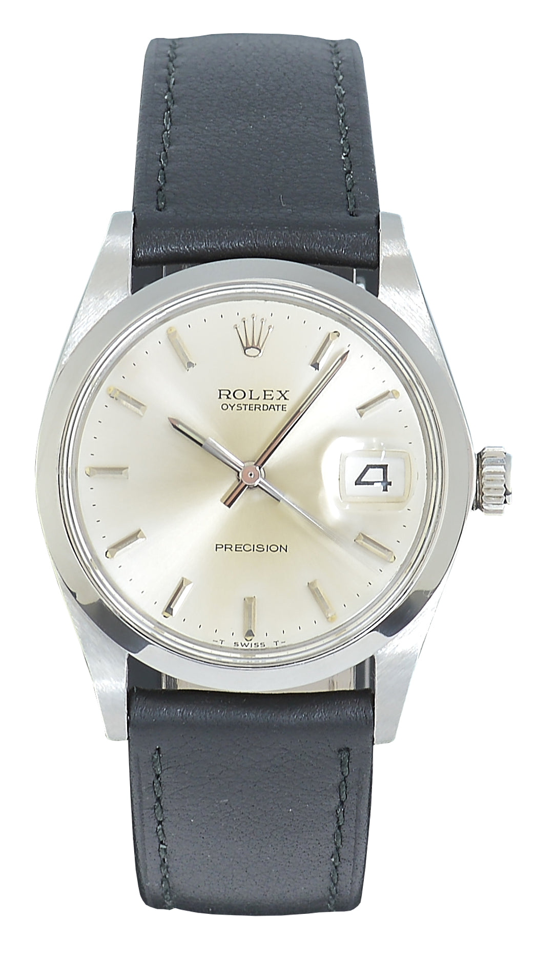 Rolex Oysterdate Steel Watch with Silver Dial, Ref: 6694 (1971)