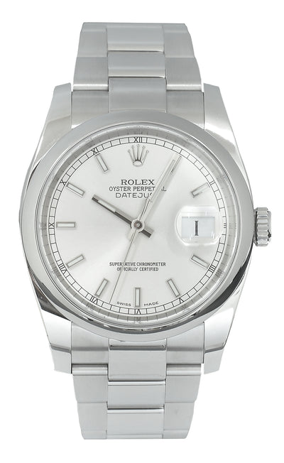 Rolex Datejust Silver Dial, Papers 2016