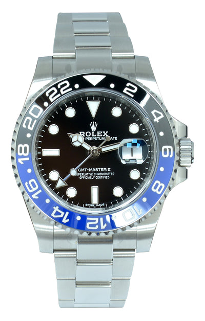 "Rolex GMT-Master II BLNR ""Batman"" Box & Papers Unworn with Sticker"