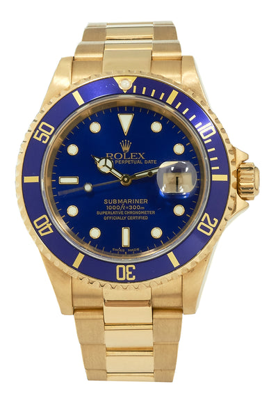 Rolex Submariner Date Yellow Gold, Ref: 16618