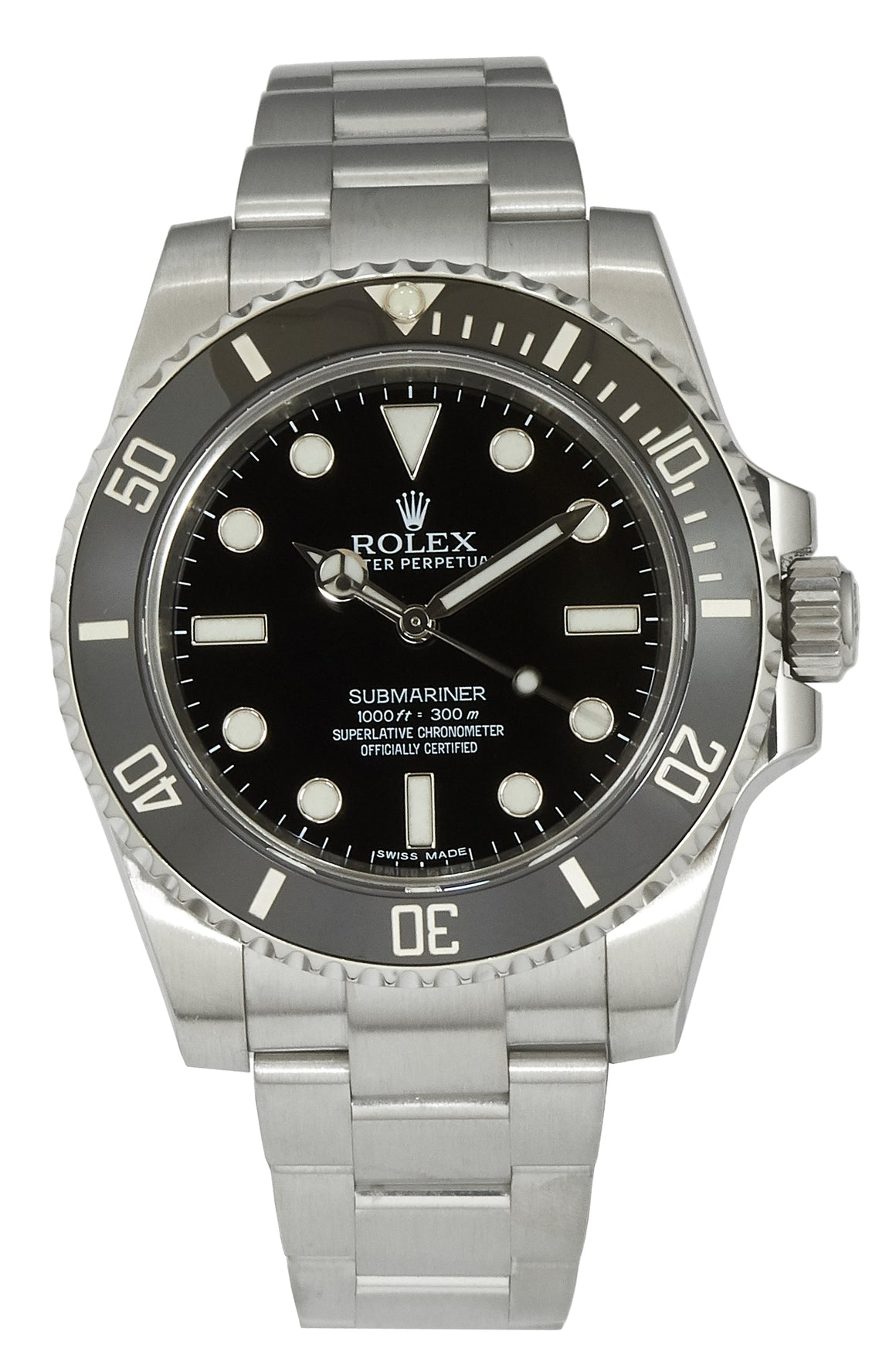 Rolex Submariner (No Date), Ref: 114060, Papers