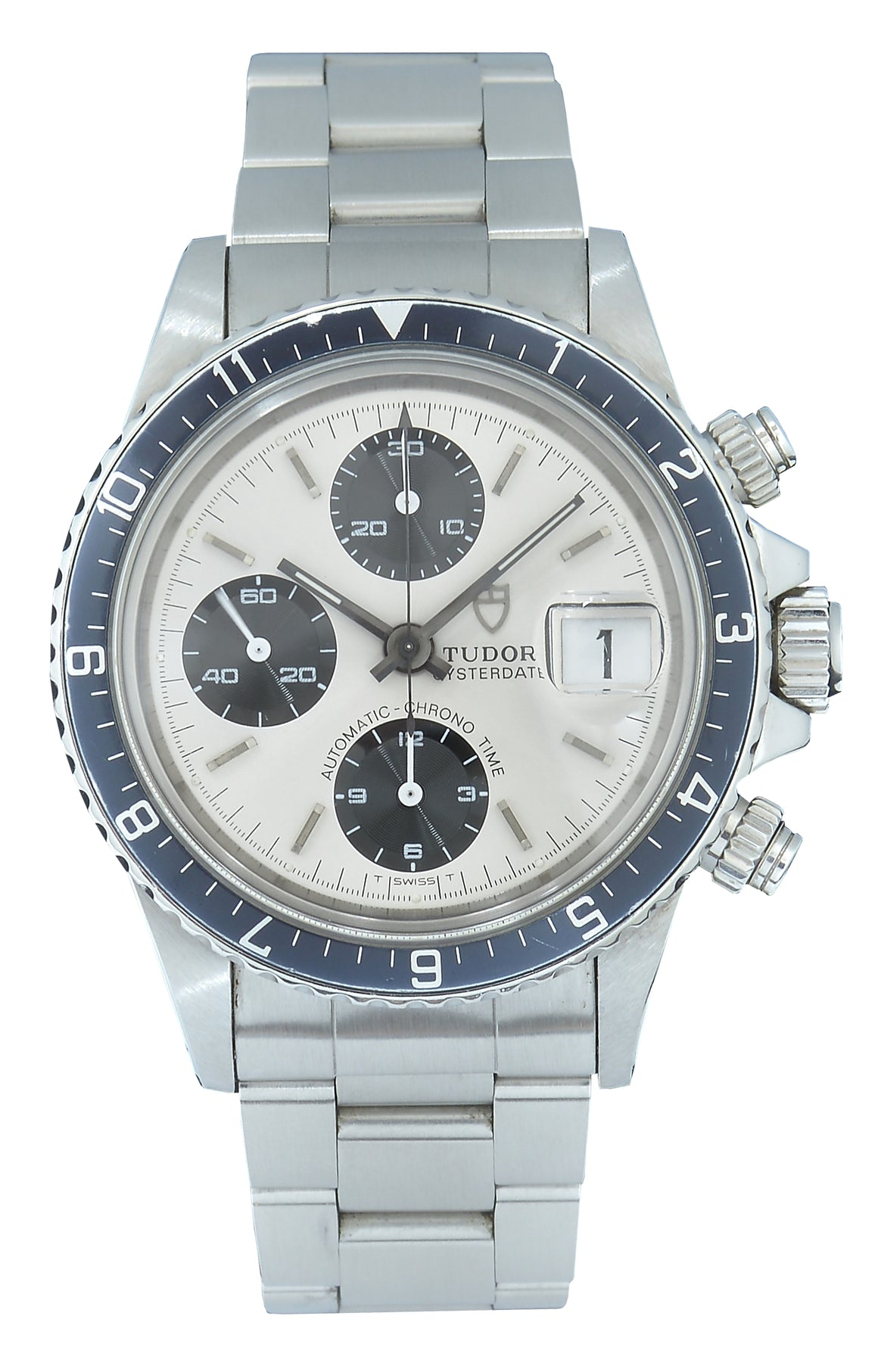 Tudor Oysterdate Big Block Steel with Silver Dial Ref:79170 Papers
