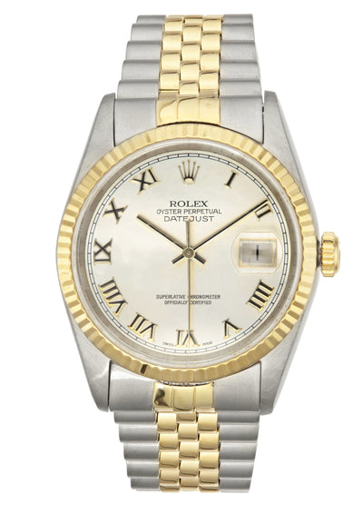 Rolex Datejust Watch Steel & Gold with Mother of Pearl Dial, 16233 Paper