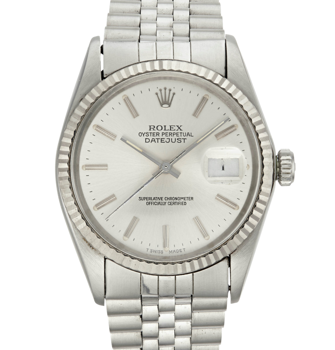 Rolex Datejust Watch Steel with Silver Dial, Ref: 16014 (1984)
