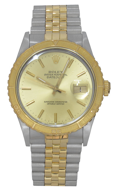 Rolex Datejust Turn-O-Graph Watch, Bimetal (Papers, 1988). Ref: 16253