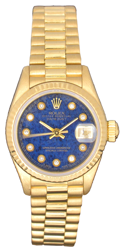 Rolex Lady-Datejust with Blue Aventurine Diamond Dial, With Papers