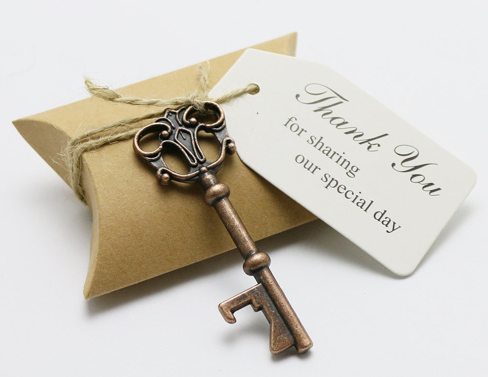 duane loyd design favor box w skeleton key bottle opener and escort card - Key Bottle Opener
