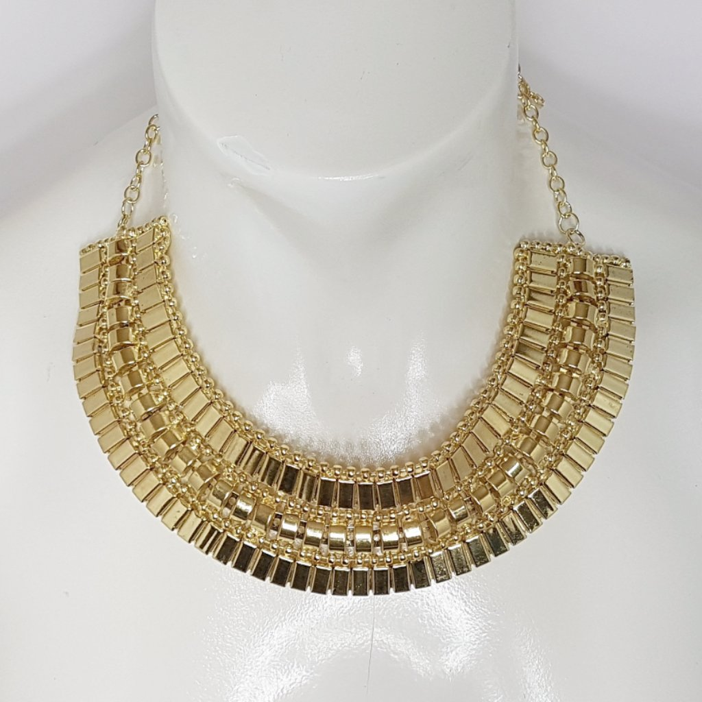 Lizzie Collar Cuff Necklace - Gold