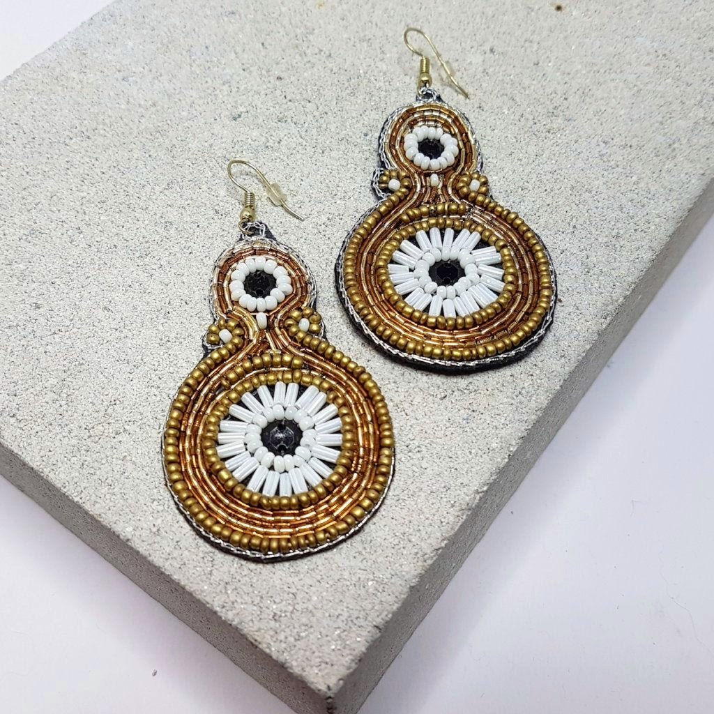 hot haveli paloma beaded statement drop earrings styled