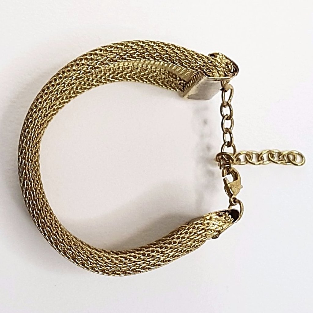 hot haveli xanthe chainmail adjustable wrap cuff bangle gold flat