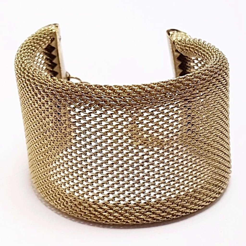 hot haveli xanthe chainmail adjustable wrap cuff bangle gold