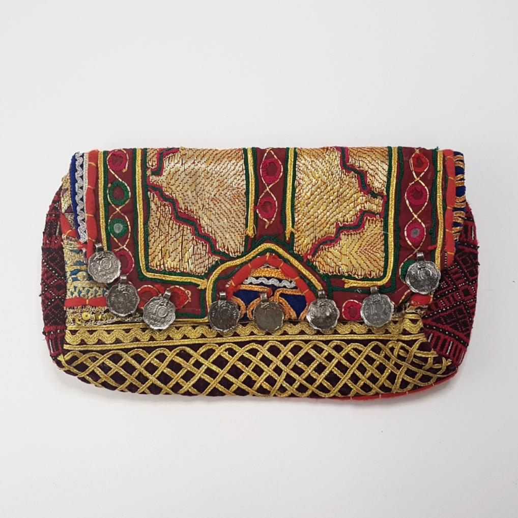 Talaia Hand Embroidered Clutch Bag - Vintage