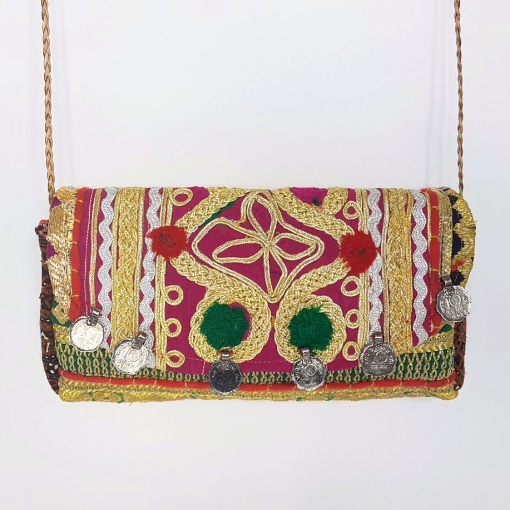 hot haveli miquela vintage embroidered clutch bag hanging