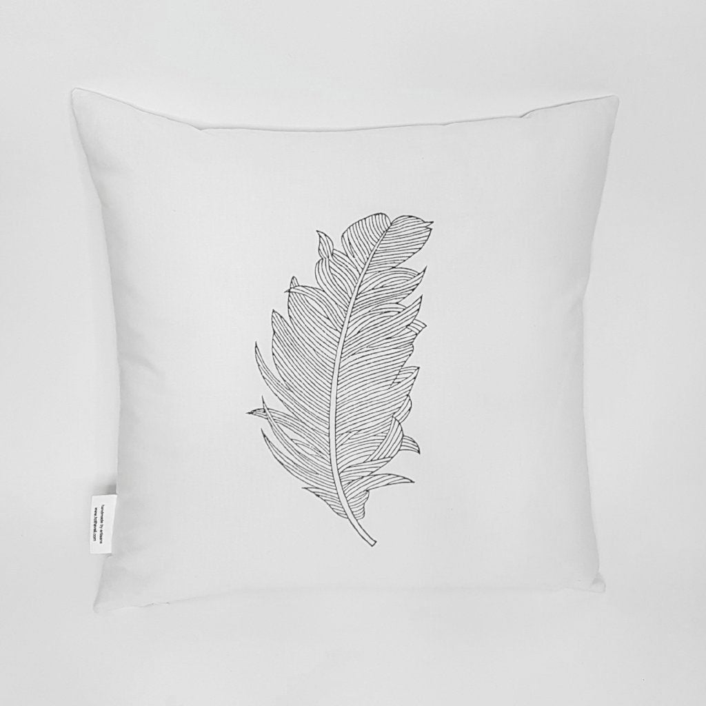 hot haveli unity botanical leaf white cushion