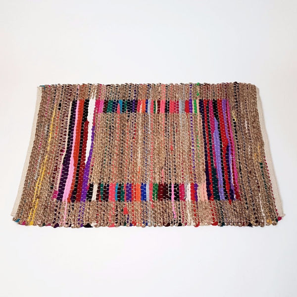 hot haveli roma jute and rag handwoven rug