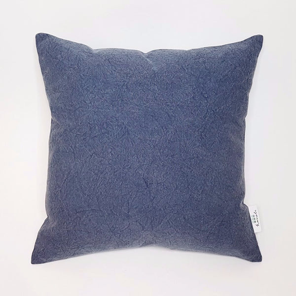 Hot Haveli Kai stonewash cotton dark blue cushion front