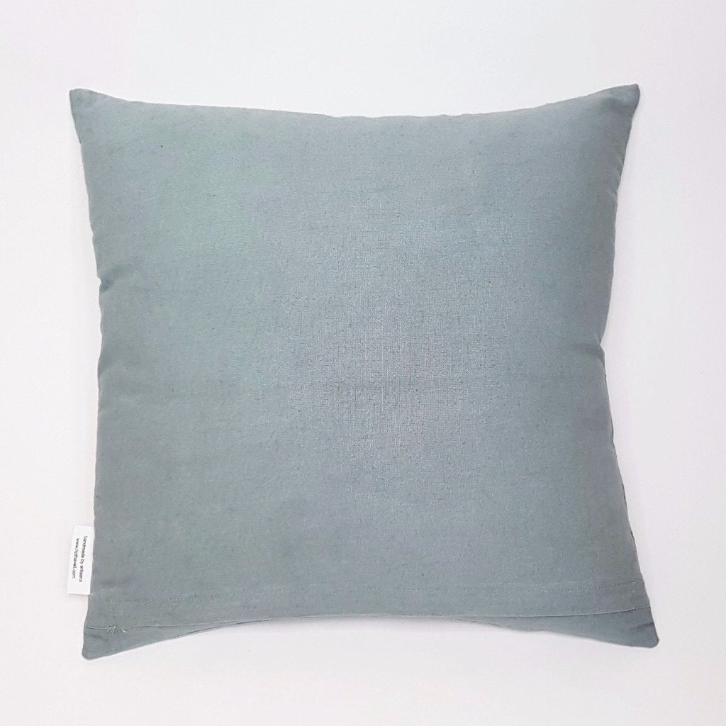 hot haveli kai stonewash cotton cushion light blue back