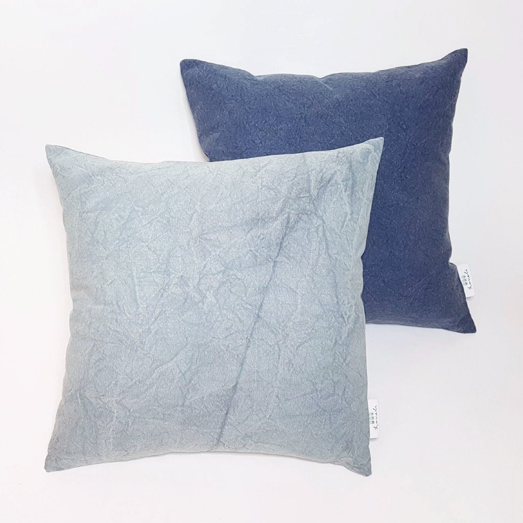 Hot Haveli Kai stonewash cotton cushion dark blue 3