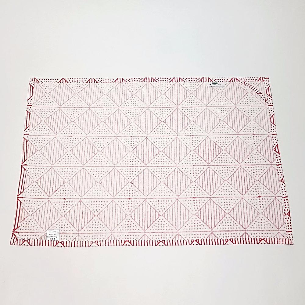 hot haveli benita hand block print tea towel reverse