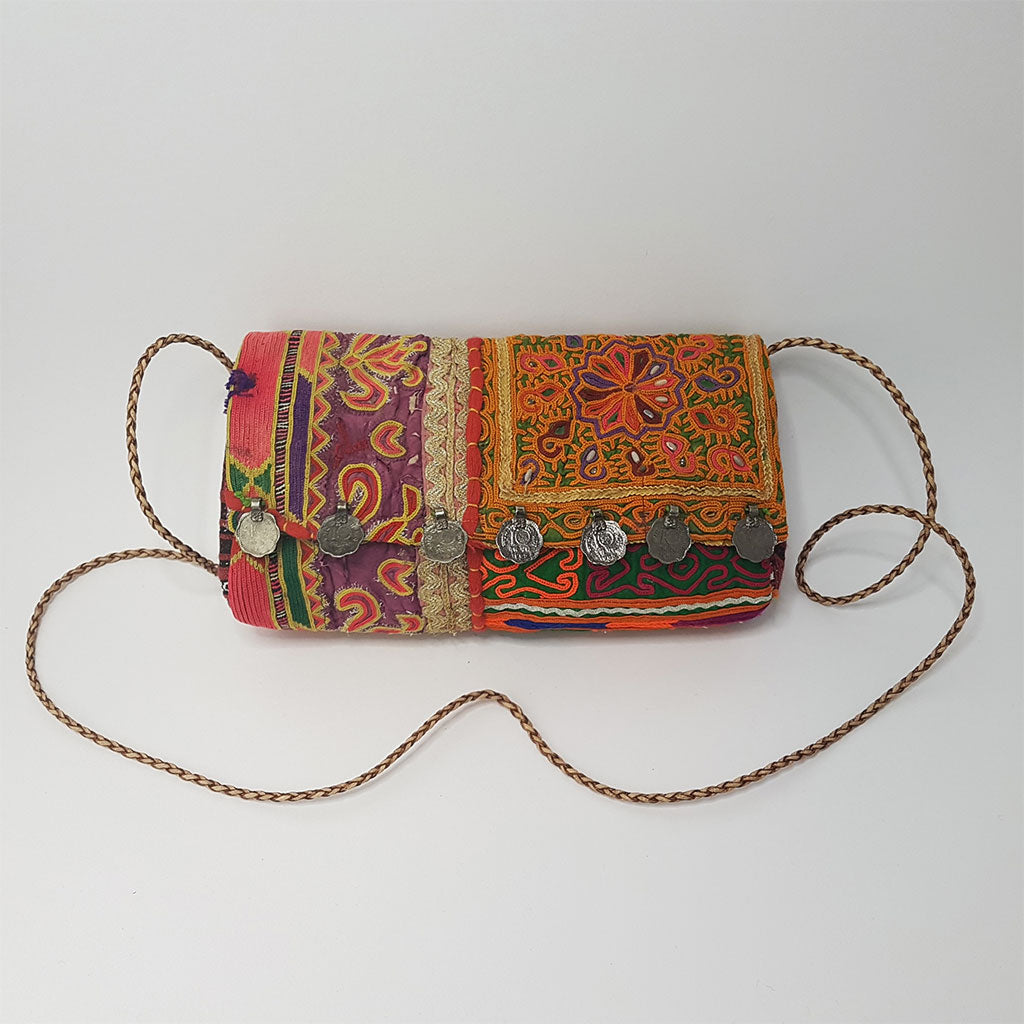 hot haveli estany vintage tribal clutch bag strap
