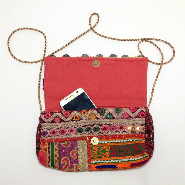 hot haveli estany vintage tribal clutch bag with phone