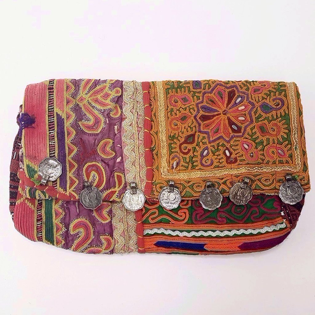 hot haveli estany vintage tribal clutch bag