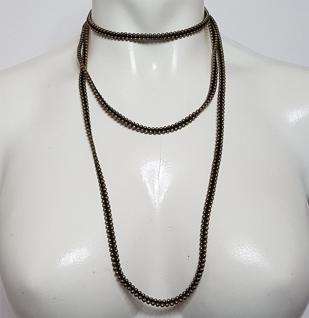 hot haveli farah long wrap around choker necklace styled