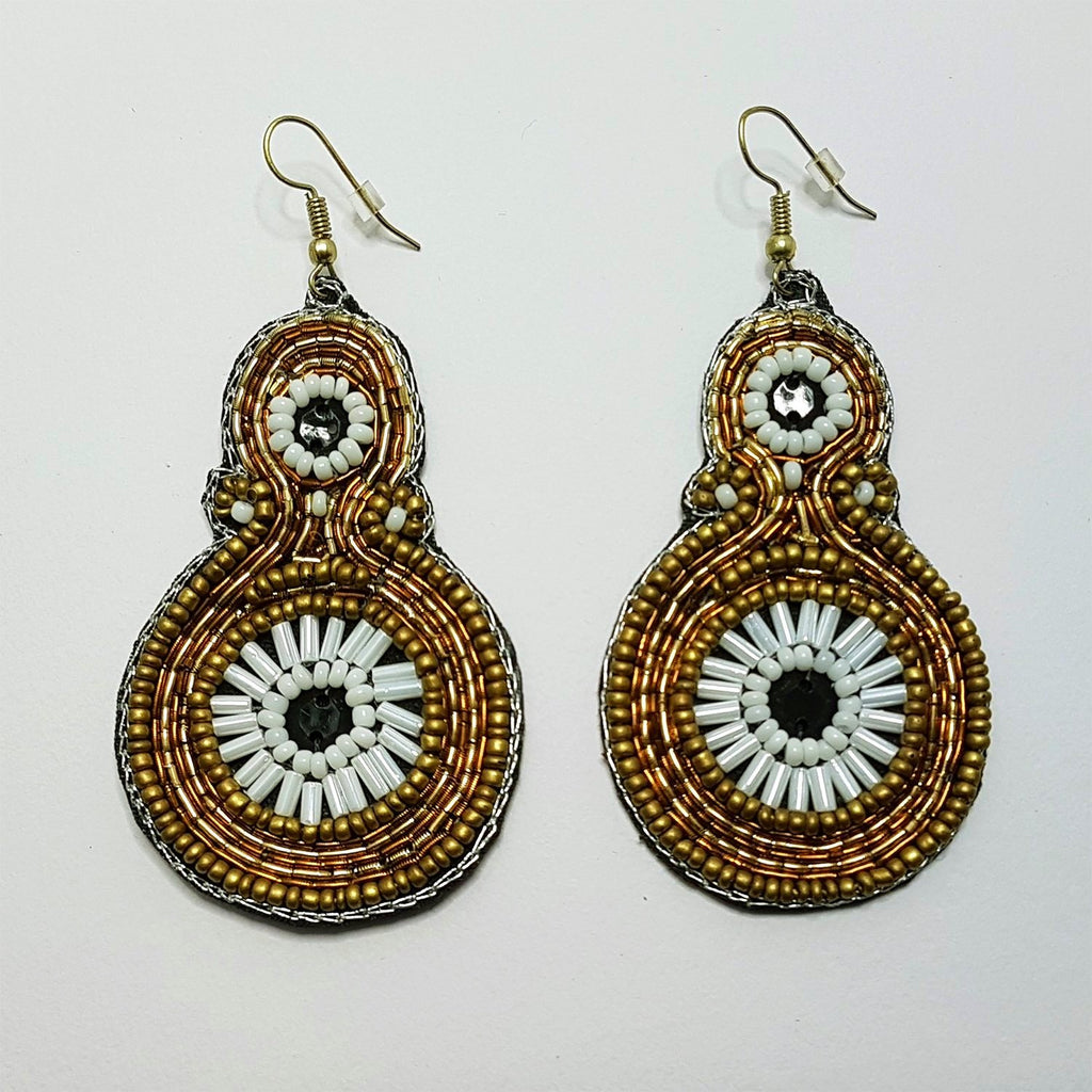 hot haveli paloma beaded statement drop earrings