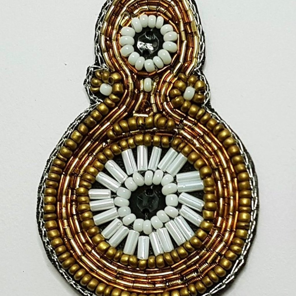 hot haveli paloma beaded statement drop earrings close up