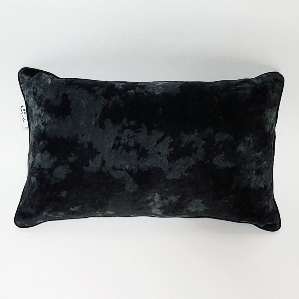 Lahela Marble Slate Cotton Velvet Cushion - Pillow