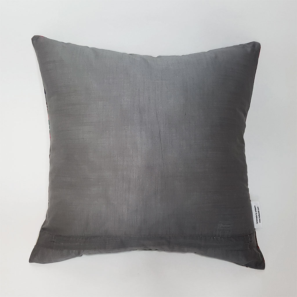 hot haveli libbie paradise bird velvet cushion grey back