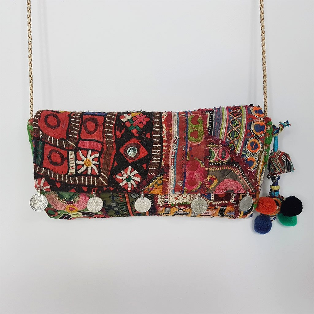 hot haveli llisa embroidered clutch vintage