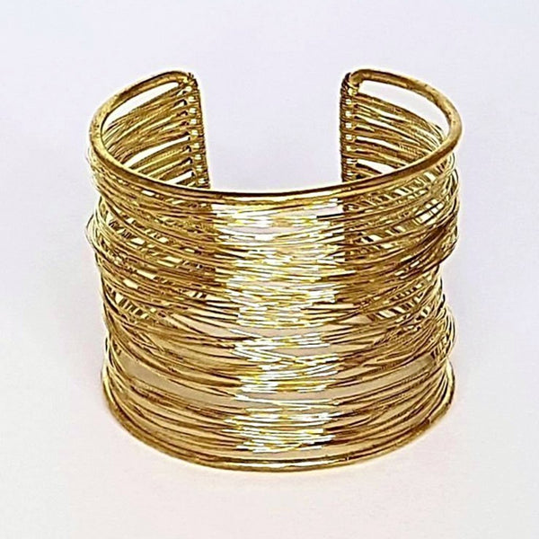 hot haveli octavia wire art cuff bangle gold