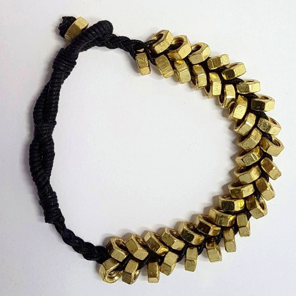 hot haveli odessa punk nut gold and black bracelet side