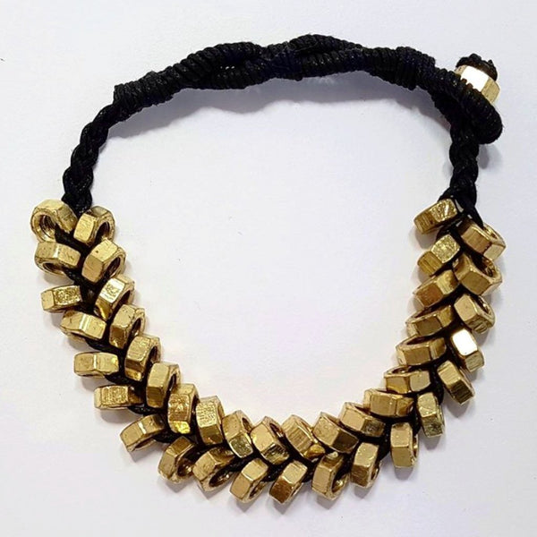 hot haveli odessa punk nut gold and black bracelet