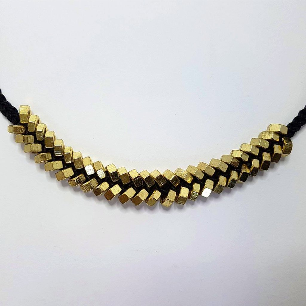 hot haveli odessa punk nut necklace close up
