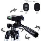 Big tripod universal phone Bluetooth self-timer camera set