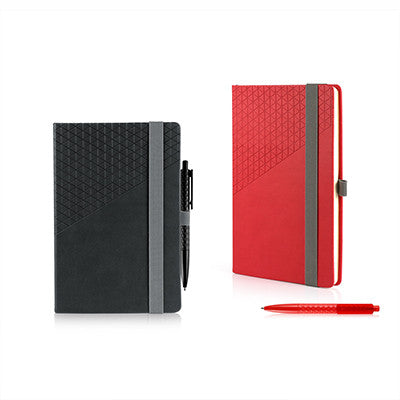 Geometric Notebook And Pen Set A5