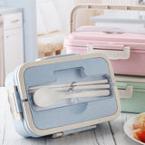Wheat Lunch Box with Cutlery Set
