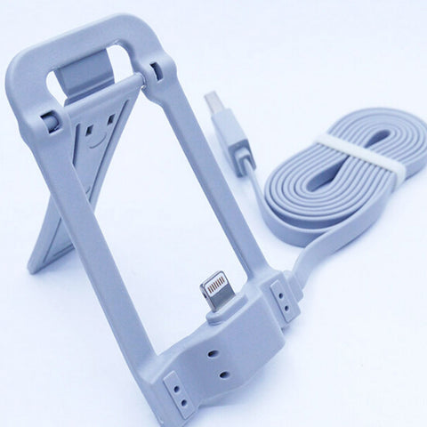 Multi-fuctional phone holder with date cable