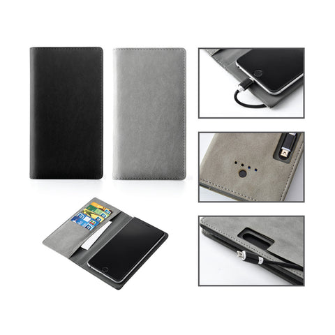 Phone Wallet with Power Bank 2400mAh Battery