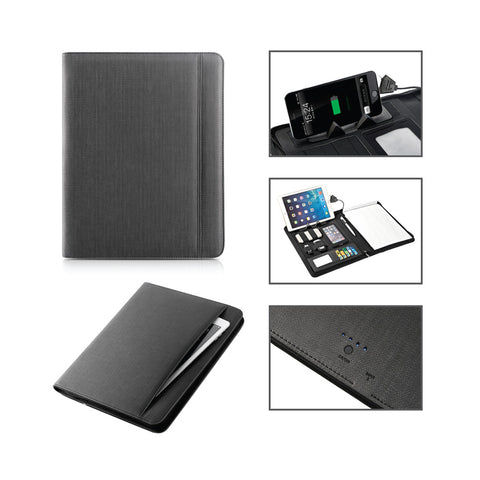 Portfolio with Power Bank 5000mAh Battery