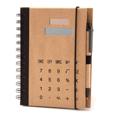 Recycled Notebook with Calculator and Ball Pen